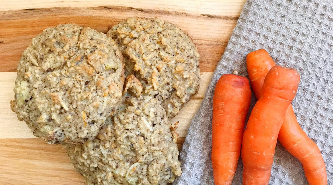 Busy morning solution: Carrot Cake Muffin Tops- Gluten Free & Vegan Recipe